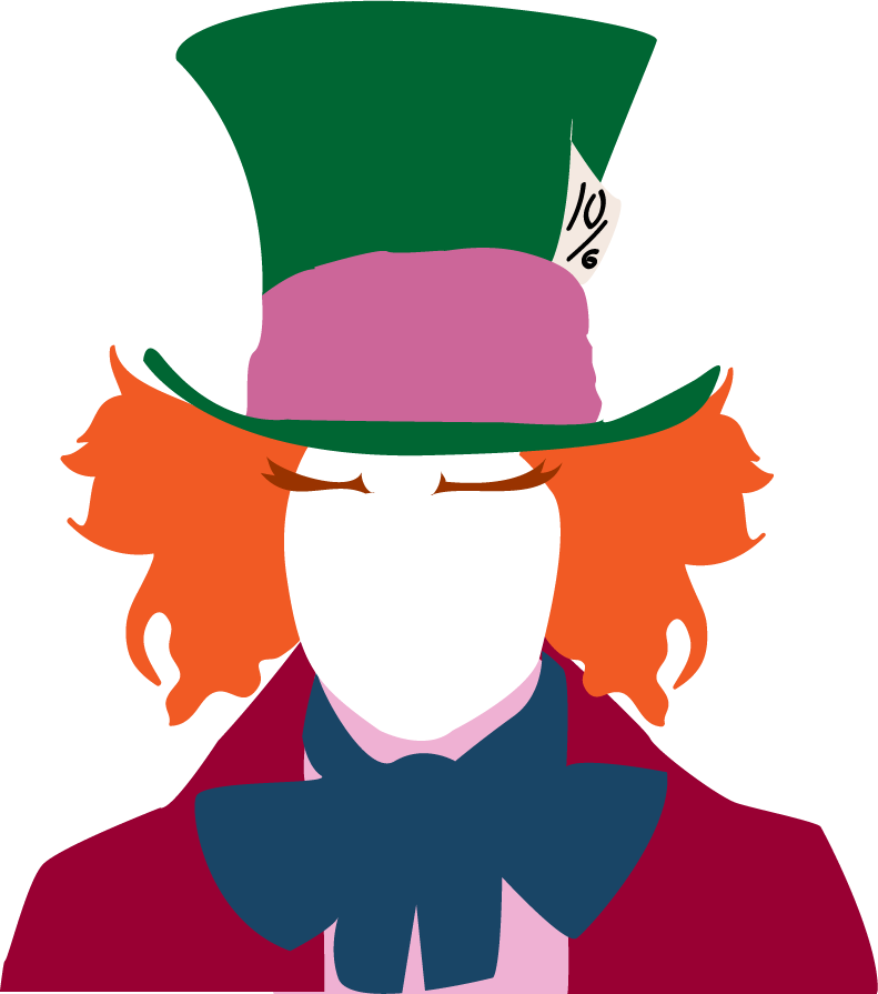 By hachiwara on deviantart. Mad drawing hatter vector royalty free library