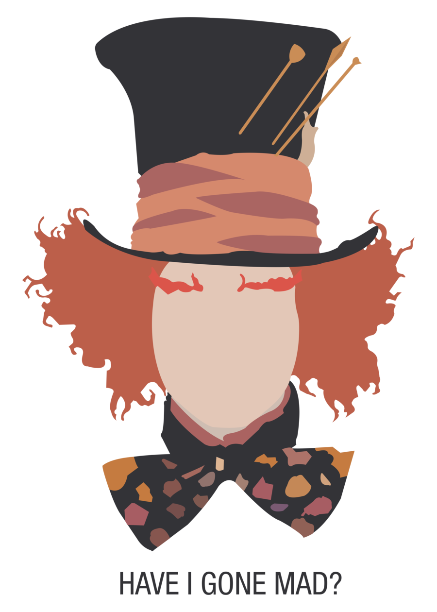 Johnny depp by opera. Mad drawing hatter vector library library