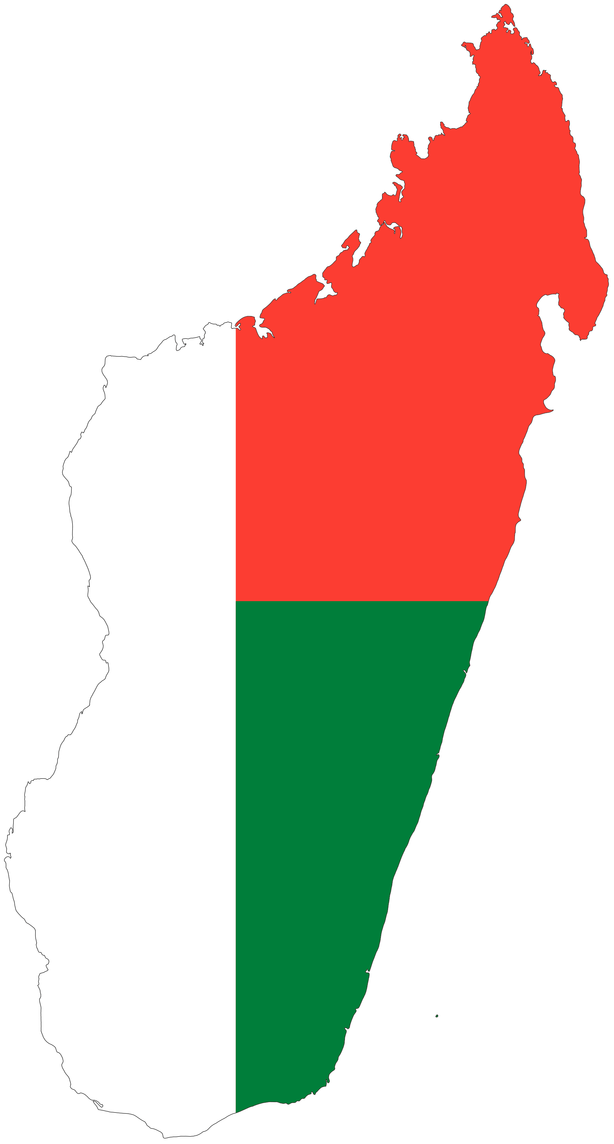 Madagascar country png. Flag map africa