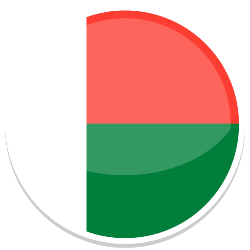 Madagascar country png. Icon round world flags