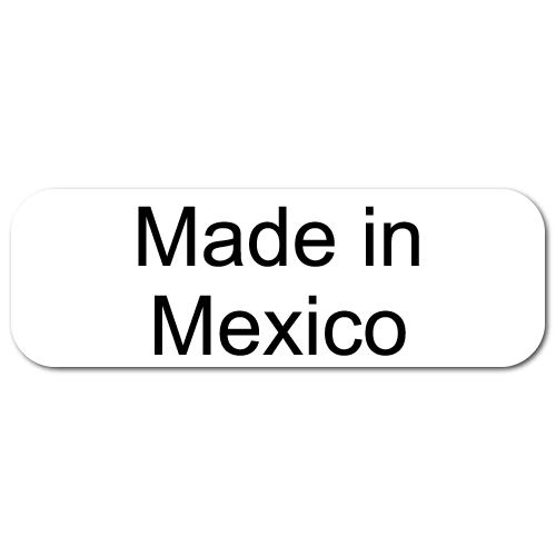 México png white. Made in mexico rectangle