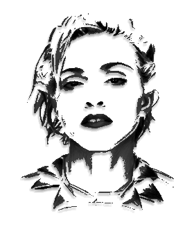 madonna drawing unfinished