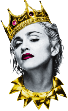 Madonna drawing pop art. With golden crown pinterest