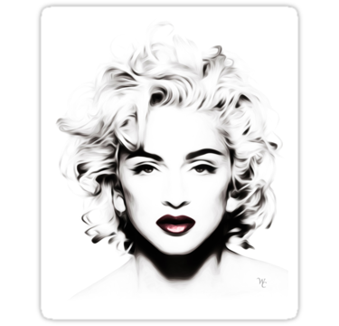Madonna drawing black and white. Malerei portr t tmalerei
