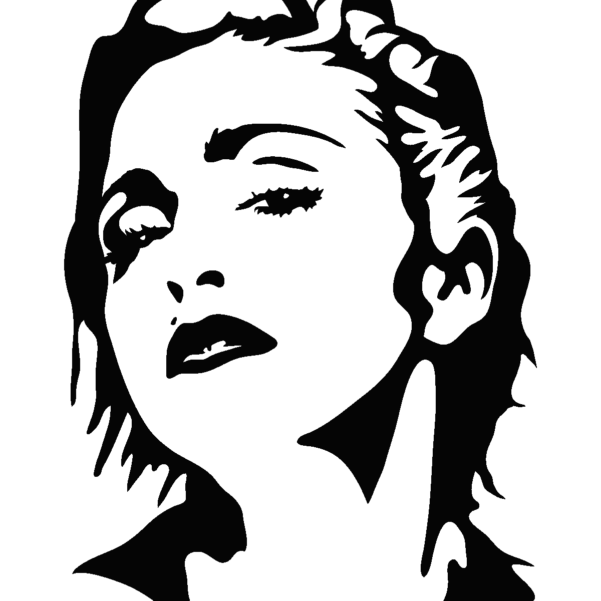 Madonna drawing easy. Silhouette at getdrawings com