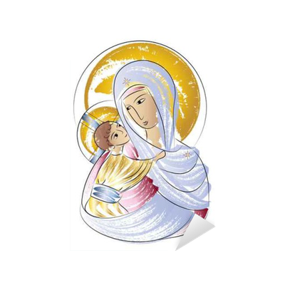 Madonna drawing easy. Blessed virgin mary with