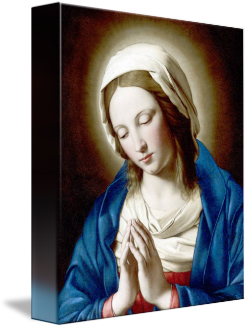 Madonna drawing person. The praying by catholic