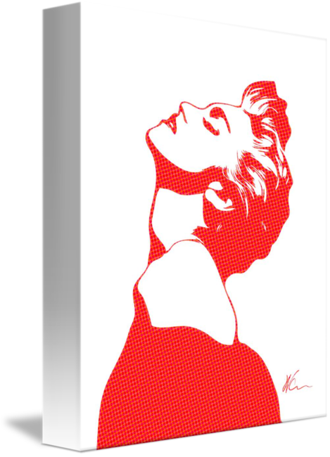 Madonna drawing pop art. By william cuccio