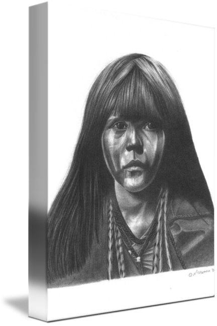 Madonna drawing realistic. Mohave girl by stephen