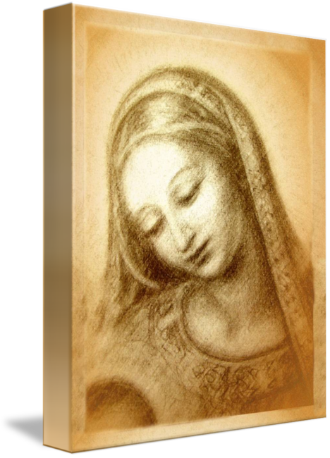 Madonna drawing work. M with the dove