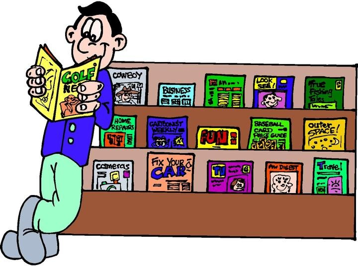Magazine clipart. Reading letters format cliparts