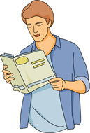 magazine clipart reading magazine