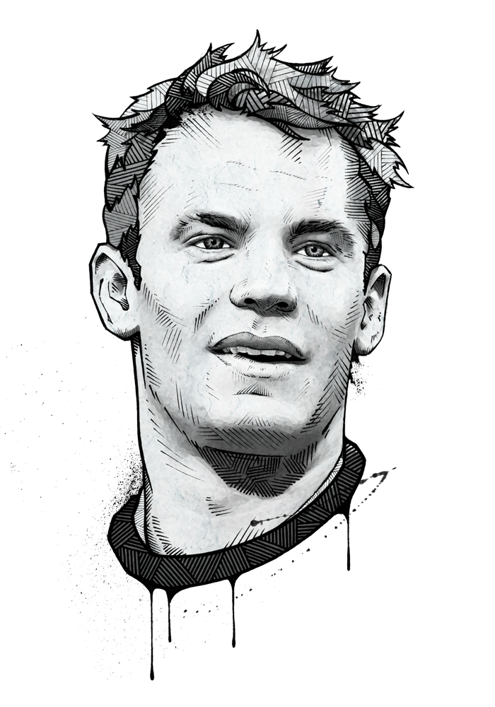 Portraits drawing. Andreas preis espn magazine