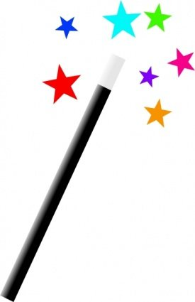 Wand clipart. Free magic and vector