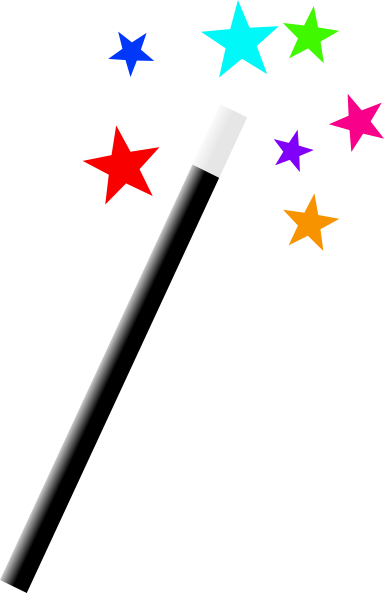 Magician clipart. Magic wand