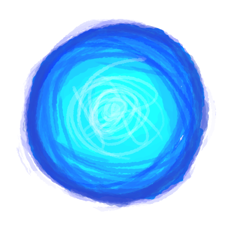Magic orb png. Blue by salad