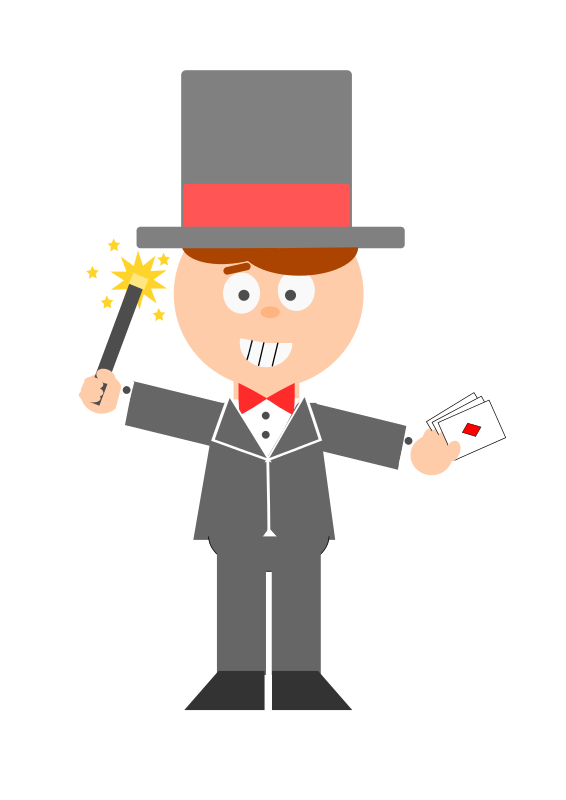 Magician clipart. Animated