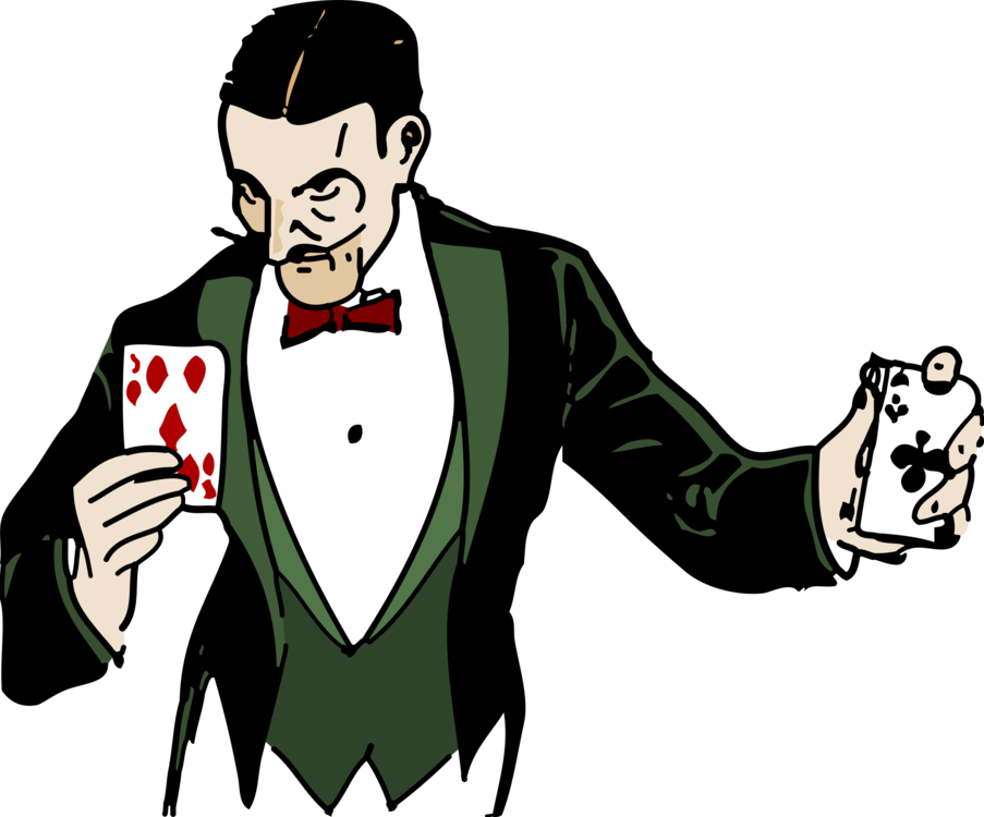 Card manipulation wand circus. Magician clipart vector freeuse download