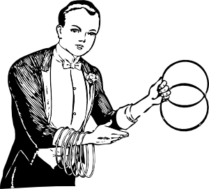 Magician clipart vintage. Linking rings clip art