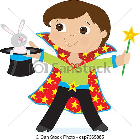 Boy a young dressed. Magician clipart banner freeuse library