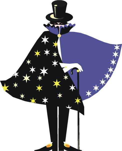 Magician clipart circus vector black and white download