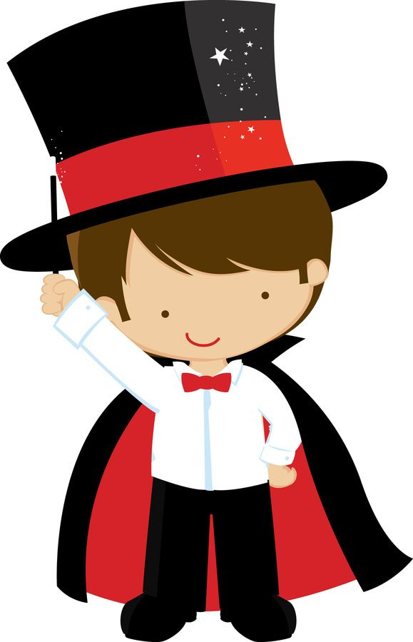 Magic circus pencil and. Carnival clipart magician image freeuse download