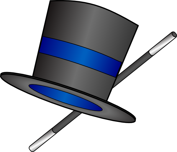 Magician clipart glove. Top hat and cane