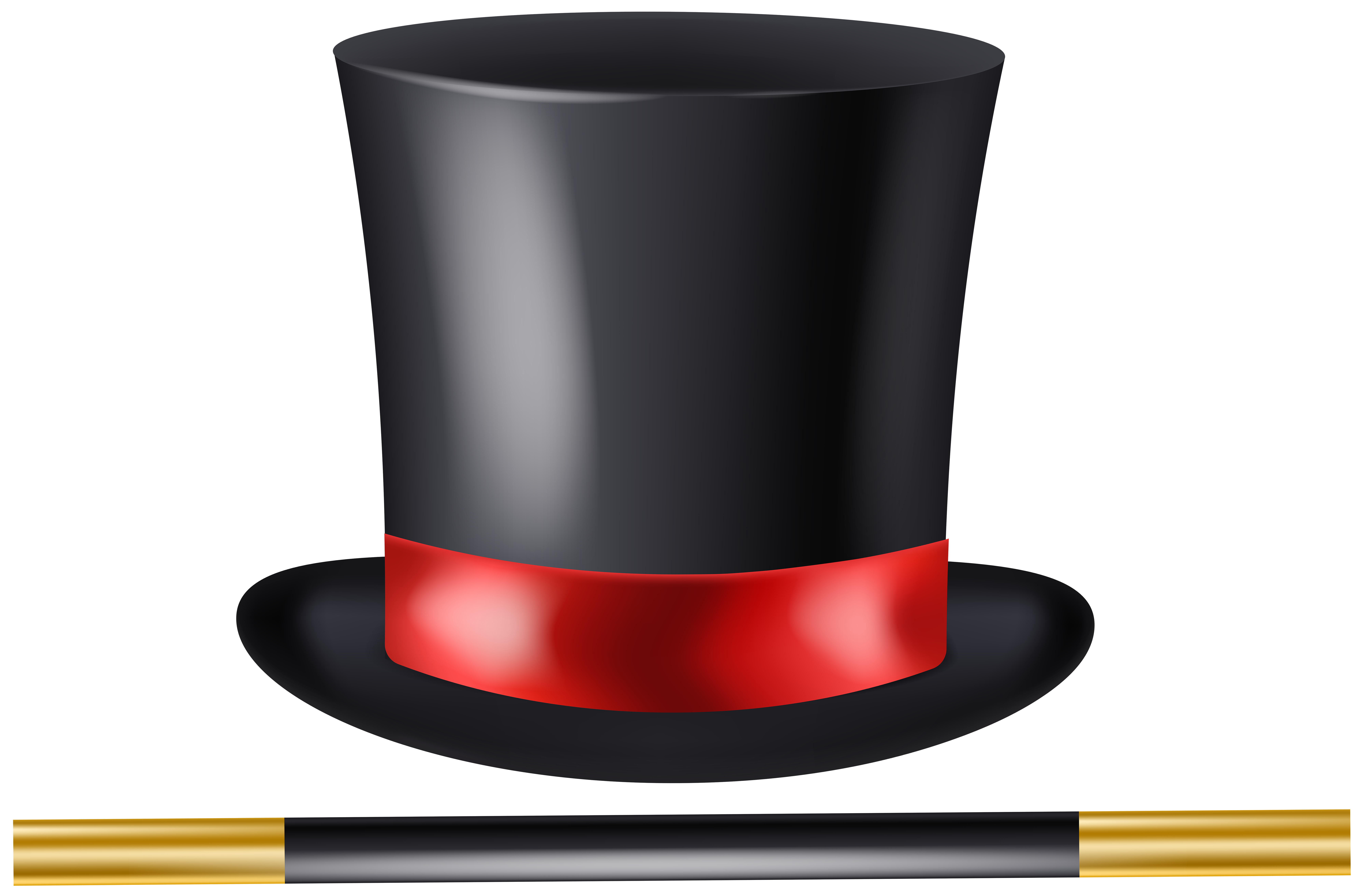 Hat and wand clip. Magician clipart transparent svg free library