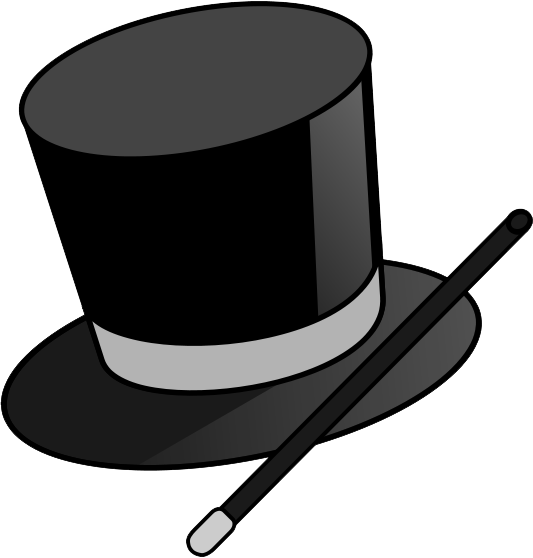 Magic hat png images. Magician clipart transparent clipart black and white