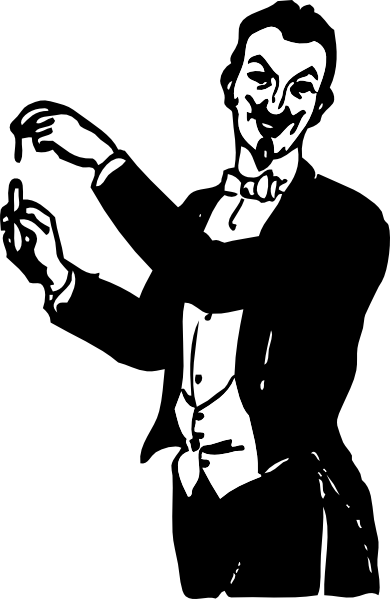 Doing a trick clip. Magician clipart transparent png black and white library