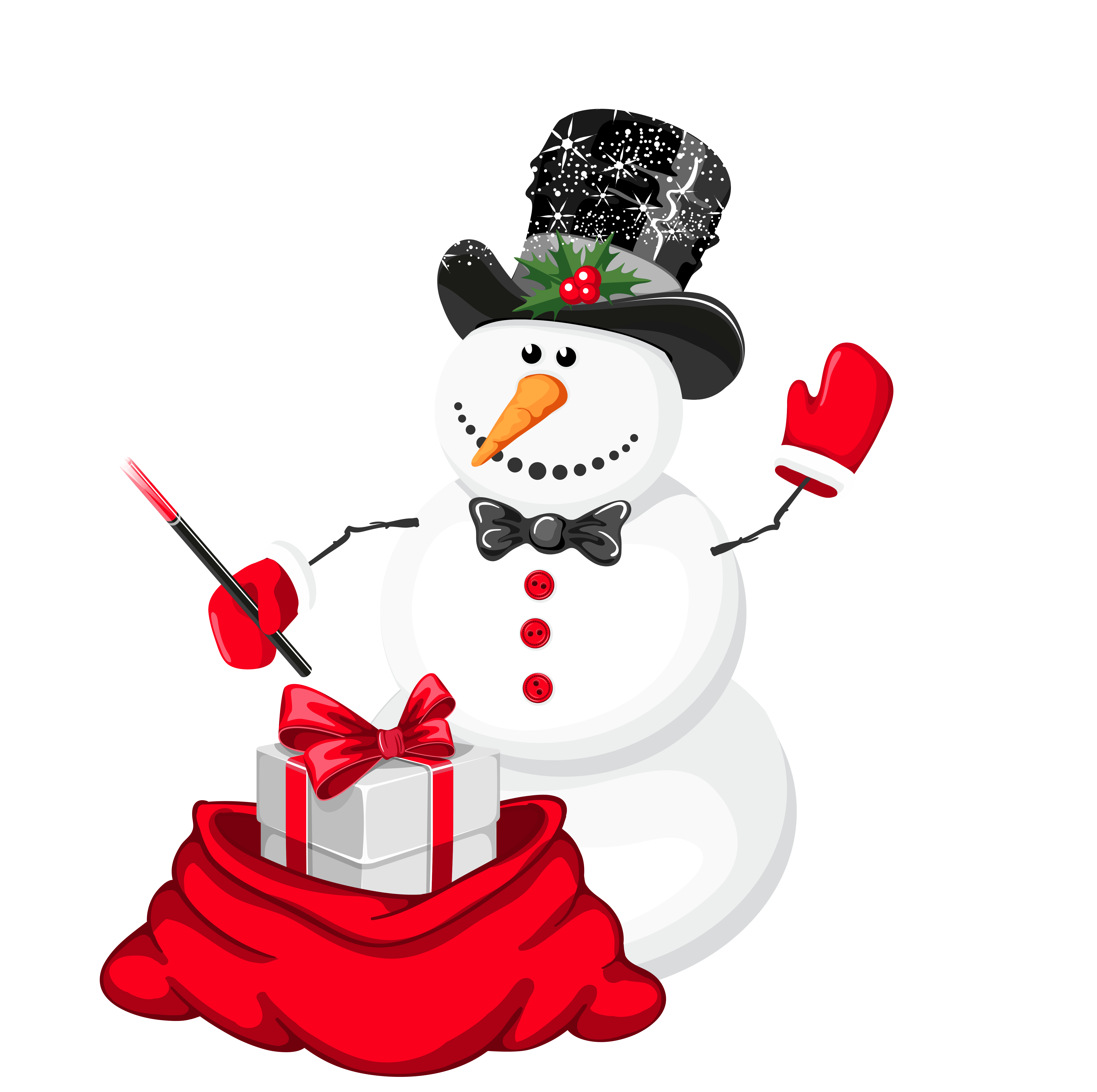 Christmas snowman png gallery. Magician clipart transparent vector black and white download