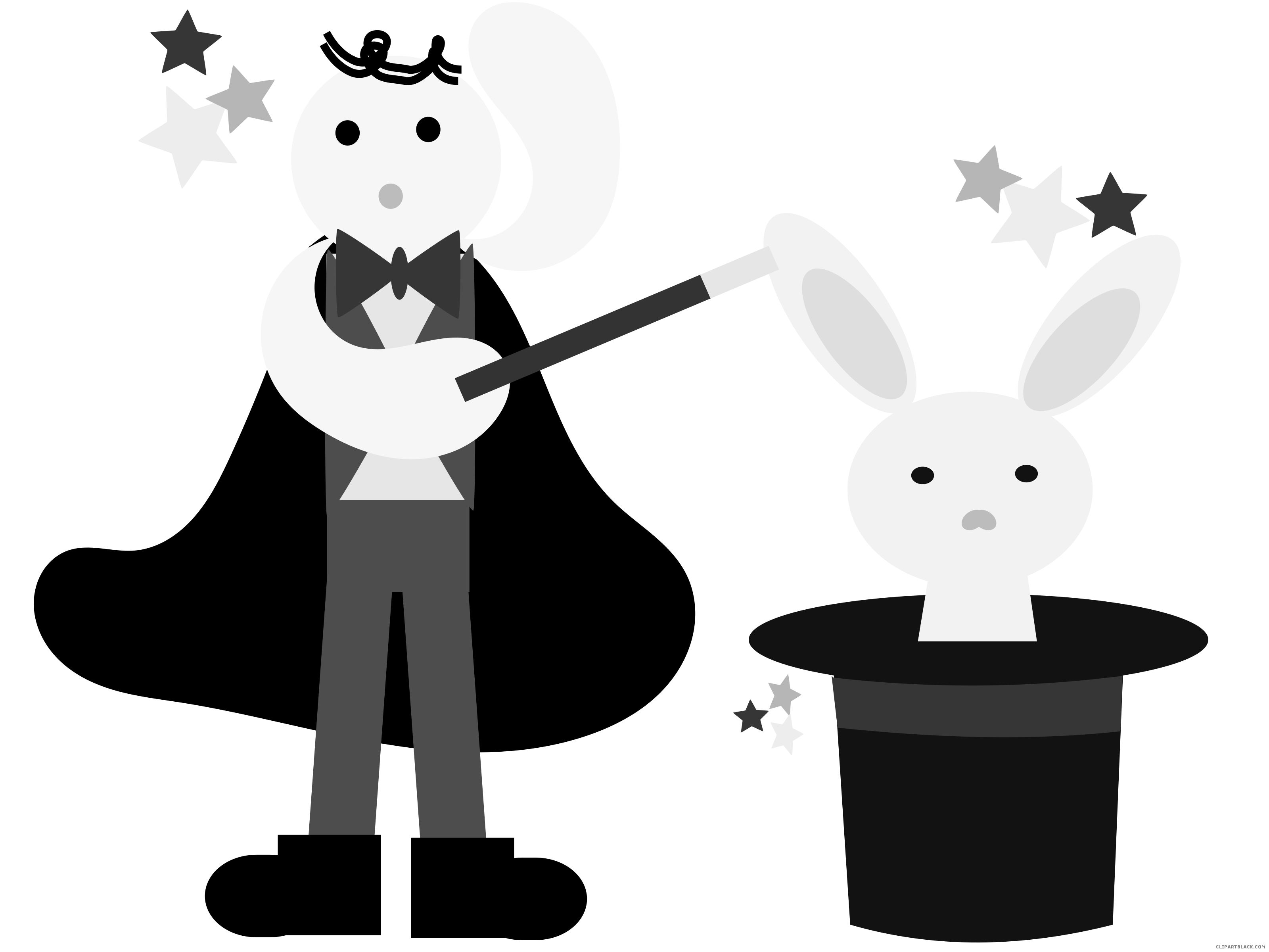 With a rabbit clipartblack. Magician clipart transparent clip art freeuse stock