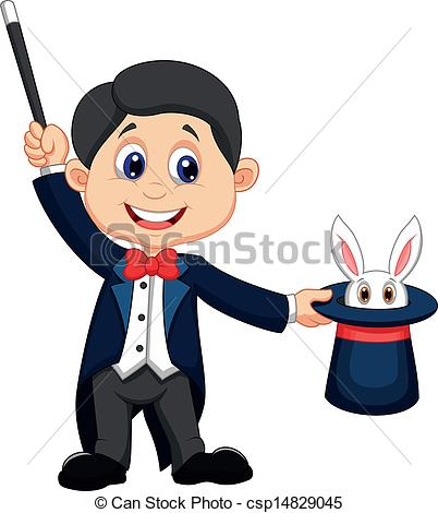 Magician clipart. Vector illustration of pulling clipart free