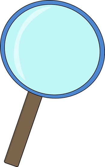 Science clipart science book. Blue magnifying glass clip