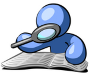 magnifying clipart blue guy