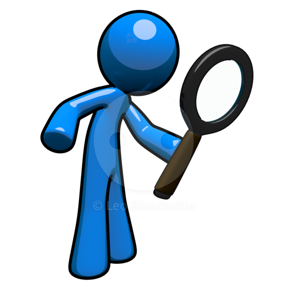 Magnifying clipart blue guy. Man with glass panda