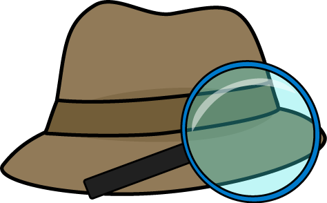 Magnifying clipart detective hat. And glass clip art