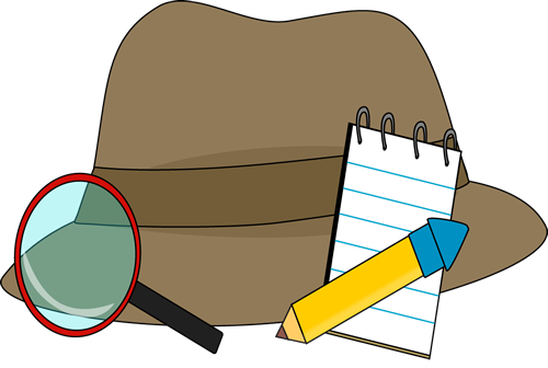 Magnifying clipart detective hat. Supplies clip art image