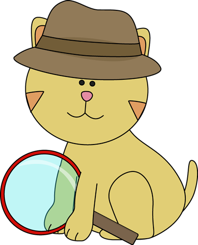 magnifying clipart detective hat