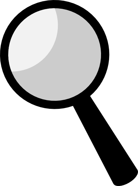 Name in magnifying glass. Spy clipart png black and white stock