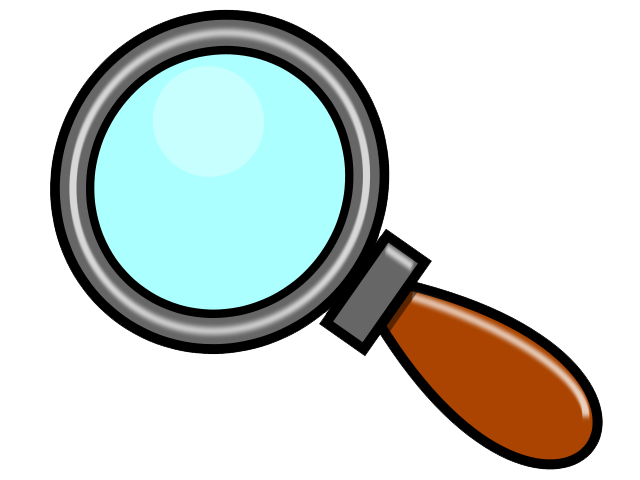 Magnifying clipart magnifying lens. Glass and fish emoji