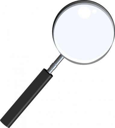 Magnifying clipart magnifying lens. Black glass magnifier magnify