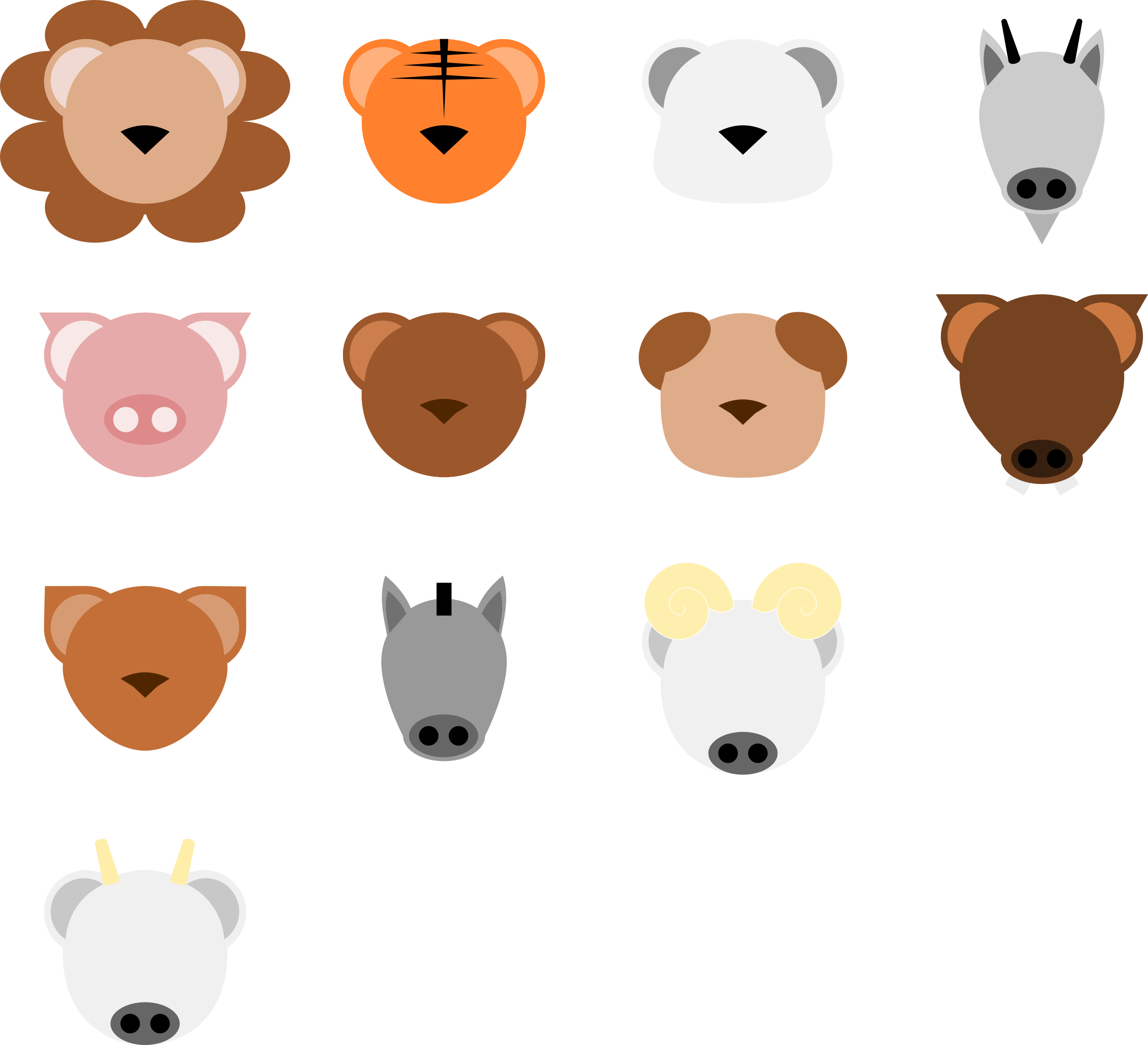 Magnifying clipart minimalist. Animal face by belthsazar