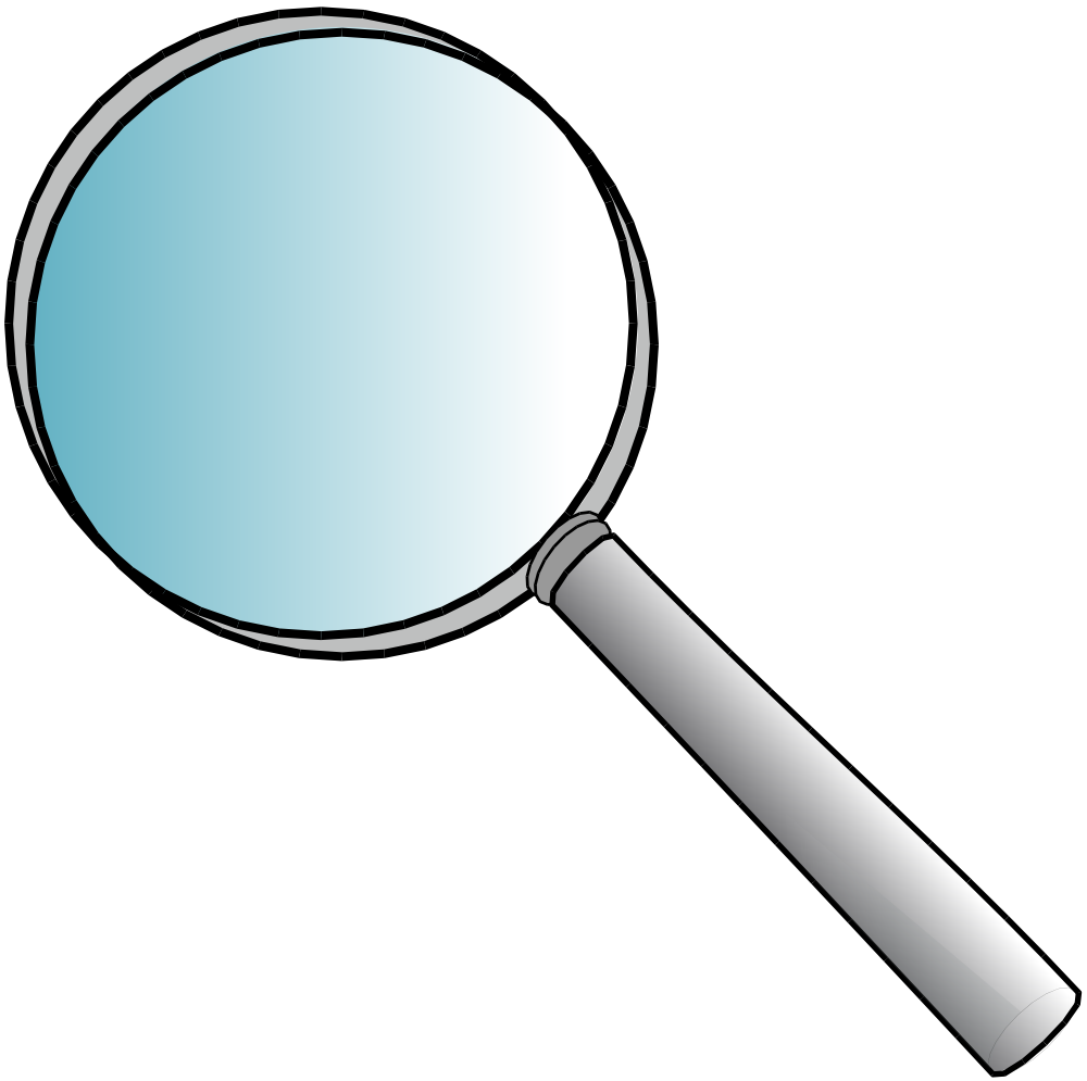 Magnifying clipart magnifying lens. Image glass for kids