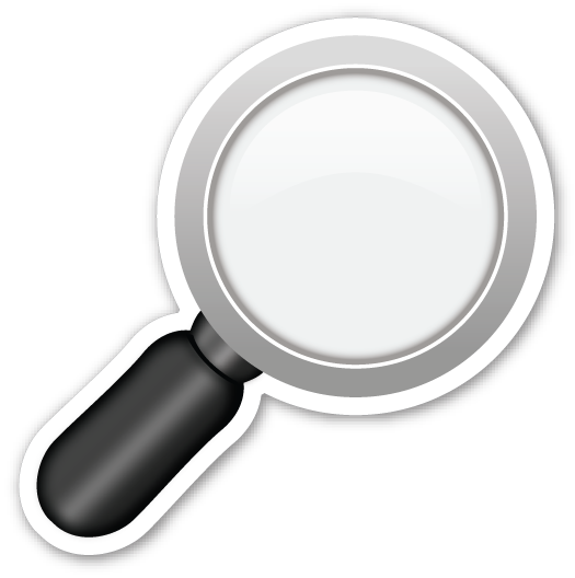 Magnifying glass emoji png. Right pointing emojistickers com