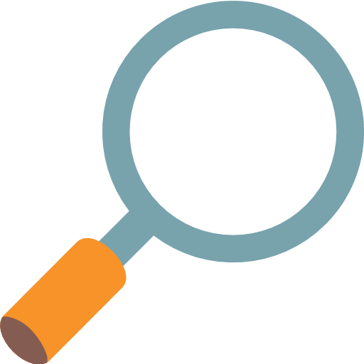 Magnifying glass emoji png. Right pointing for facebook