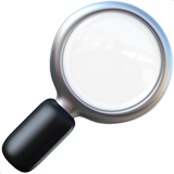 Magnifying glass emoji png. Tilted right on