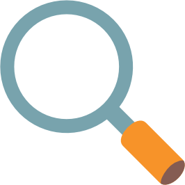 Magnifying glass emoji png. Android left pointing