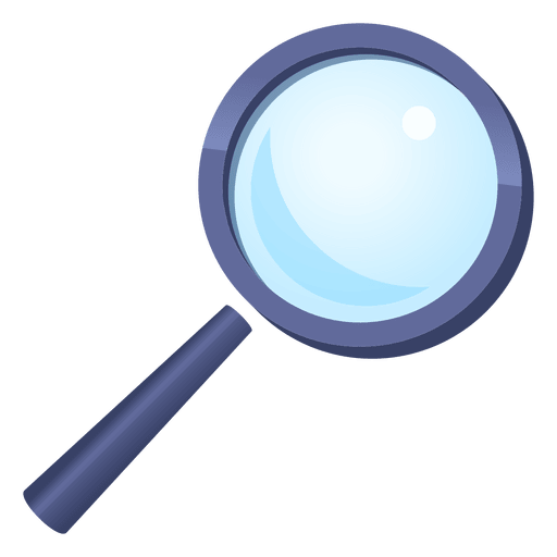 Magnifying glass vector png. Cartoon transparent svg