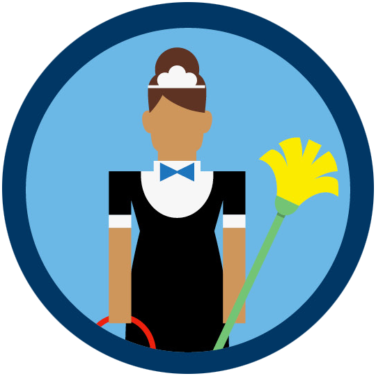 Staff clipart hotel employee. Human trafficking and the